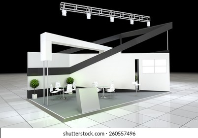 modern design abstract exhibition stand