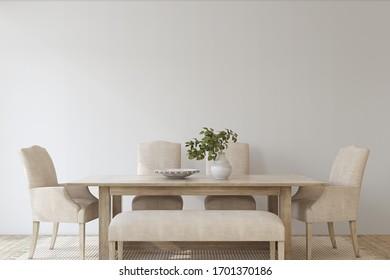 Comedor moderno. Burla interior. 3d de representación.