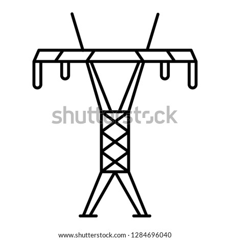 Modern Electric Tower Icon Outline Modern Stock Illustration