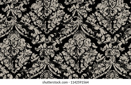 modern, elegant,  abstract embroidery texture or grunge background. For art texture, grunge design, and vintage paper or border frame,  damask pattern for carpet, rug, scarf, clipboard , shawl pattern
