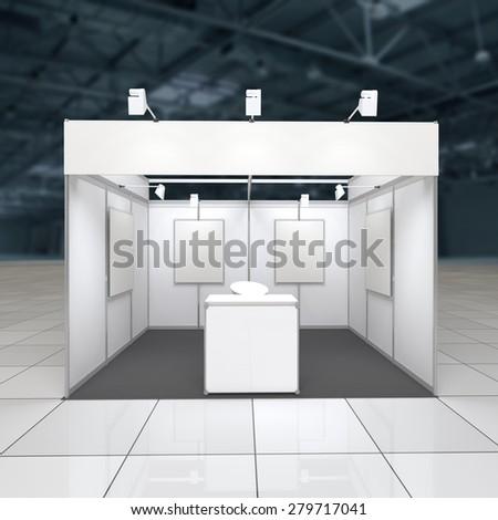 Exhibition Stand Reception Desk : Modern exhibition stand sqm blank frieze stock illustration