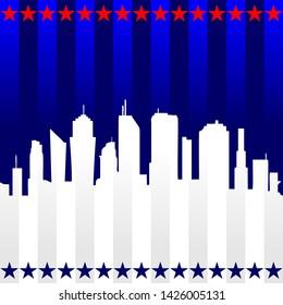 modern flag city of superpower