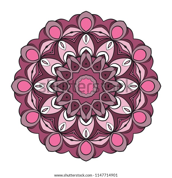 Modern floral ornament.   color mandala illustration, Designed for Web, Greeting Card, Poster, Label and Other