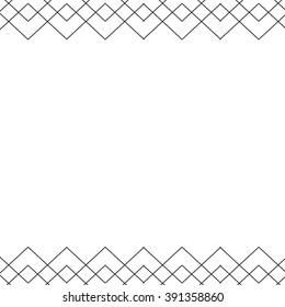 Modern Geometric Border with Triangles