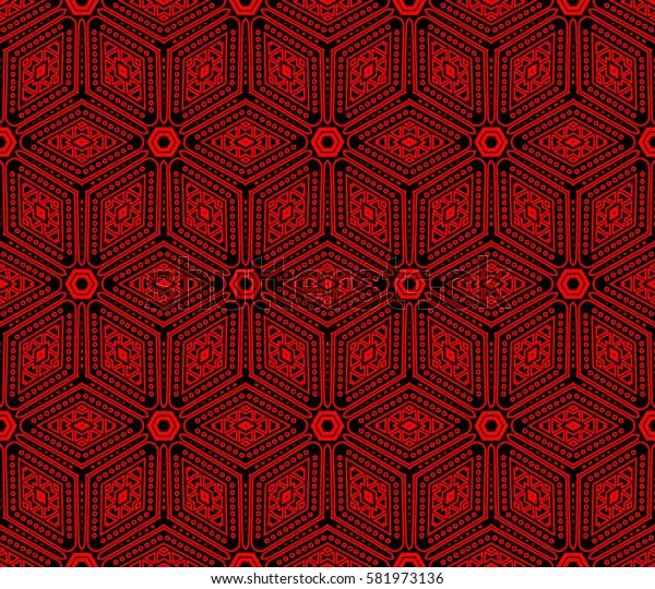 Modern geometric seamless pattern. For design, page fill, wallpaper. Raster copy illustration