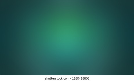 Modern gradient background with degrade fragments and with the shape of the painting. Blurred spot in center. Dark cyan, green pine, crayola, jungle, emerald, wet rainforest, saturated blue color.