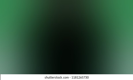 Modern gradient background with degrade fragments and with the shape of the painting. Dark blurred spot in the middle. Template for banner or presentation. Nero, hunter green color.