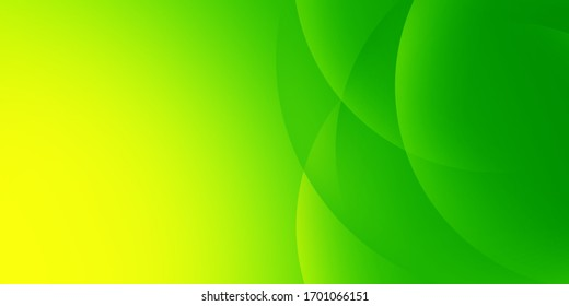 Modern gradient colorful circle of green background
