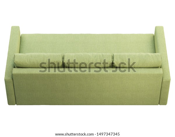 Modern Green Fabric Sofa Textile Upholstery Stock ...