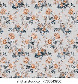 modern grunge, abstract, plaid,  floral damask and  floral ottoman pattern for carpet, rug, linen, wallpaper all textile texture rust and beige