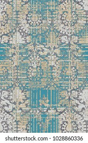 modern, grunge, damask colorful pattern for design, background,  carpet, rug,  scarf, clipboard , shawl pattern
