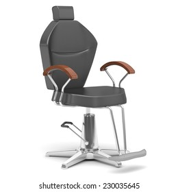 modern hairdressing chair isolate on white
