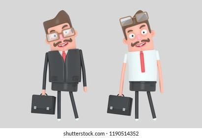 Modern handsome businessman. 3d illustration