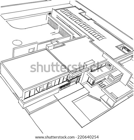 Royalty Free Stock Illustration Of Modern House Building Concept