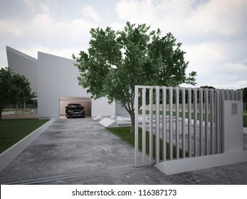 Modern house design, contemporary architecture, hi tech project