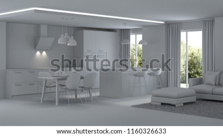 Réparation Best Home Interior Design | Modern House Interior Repairs Gray Interior Stock Illustration