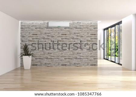 Modern interior apartment air conditioning 3 d stockillustration