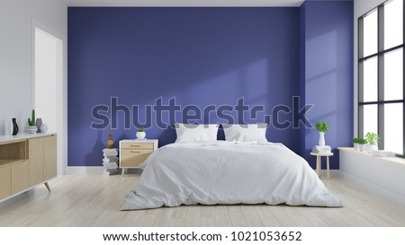 Modern Interior Bedroom Ultraviolet Home Decor Stock Illustration Fascinating Wall Bedroom Decor Concept Collection