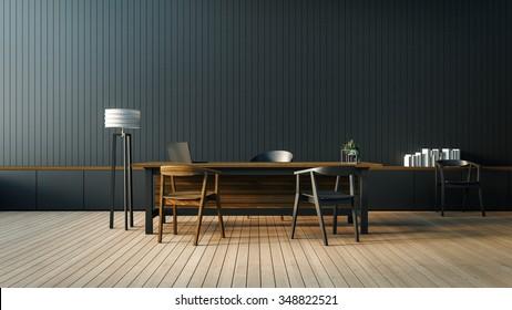 The modern interior of Boss office room / 3D render image