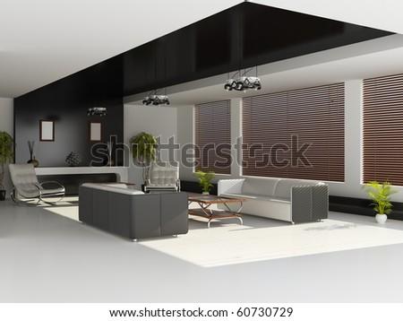 Modern interior hall stock illustration 60730729 shutterstock