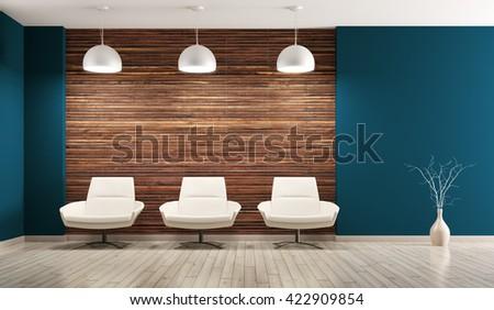 Modern Interieur Living : Modern interior living room armchairs d stockillustration