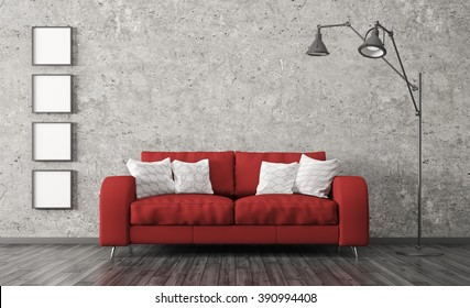 Red Couch Images Stock Photos Vectors Shutterstock
