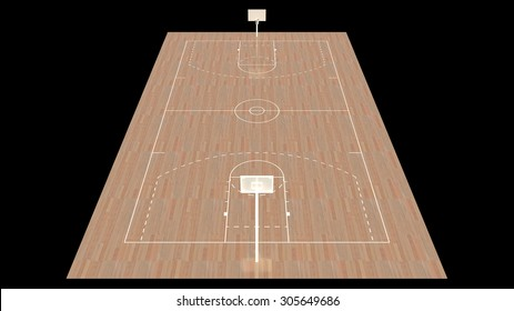 Modern International Basketball Court Design 3D Interior Rendering