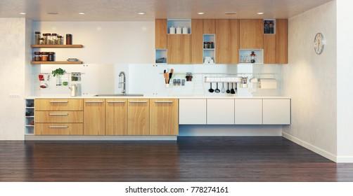 3d Kitchen Images, Stock Photos & Vectors   Shutterstock