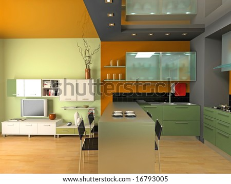 Modern Kitchen Interior Design 3 Custom Decorating Design