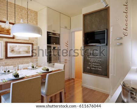 Royalty Free Stock Illustration Of Modern Kitchen Interior Design
