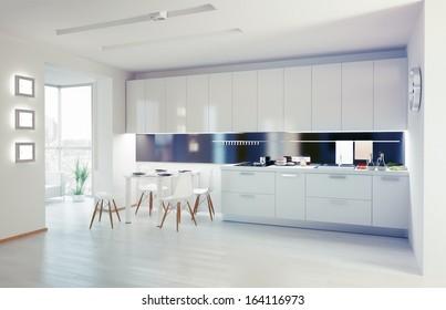 modern kitchen interior. design concept