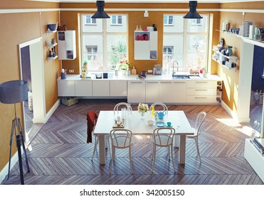 Pic Of Tall Empty Floor Mirror With White Background