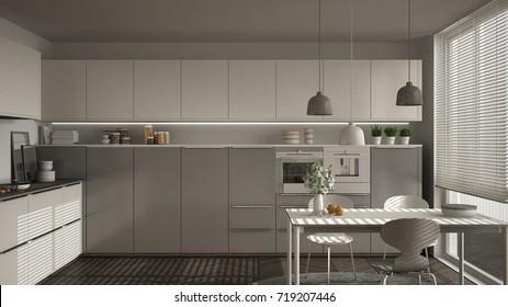 Modern Grey Kitchen Hd Stock Images Shutterstock