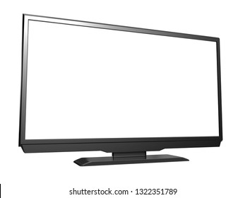 Modern LED LCD tv isolated on white background. 3D rendering