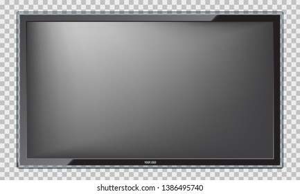 Modern Led TV screen with realistic reflection.