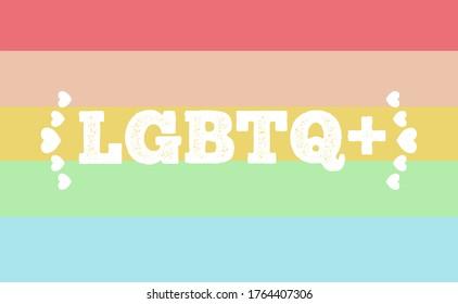 Modern LGBTQ + flag and icons.