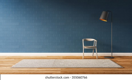 blue wall living room 3 d renderのイラスト素材 1030053454 shutterstock