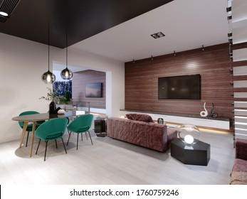 Wall Mounted Tv Images Stock Photos Vectors Shutterstock
