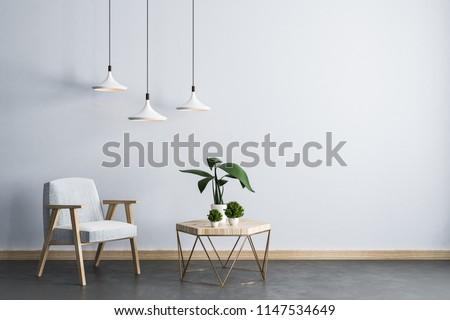 royalty free stock illustration of modern living room interior