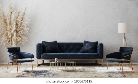 Couch Blue High Res Stock Images Shutterstock