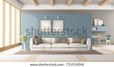 Outstanding Modern Living Room Sofatable Chairs 3 D Stock Illustration Squirreltailoven Fun Painted Chair Ideas Images Squirreltailovenorg