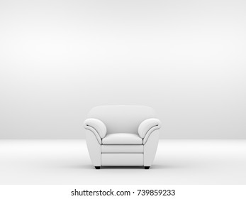 modern living room with white sofa and free copy space, 3D rendering