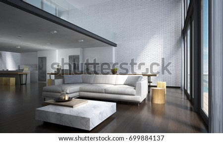 Royalty Free Stock Illustration of Modern Lounge Double Space Living ...