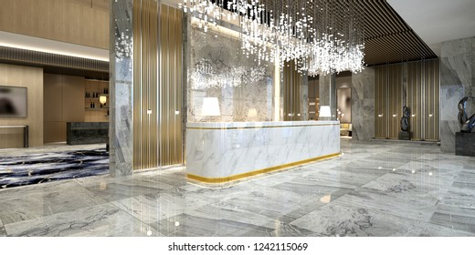 Hotel Lobby 3d Render Images Stock Photos Vectors Shutterstock