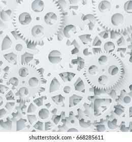 modern mechanism industrial concept. Technology gears background.