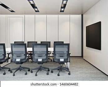 Modern meeting room interior #2 3D render
