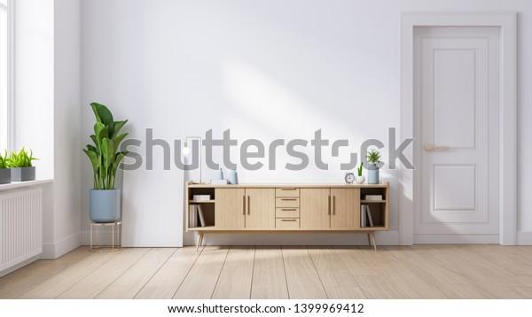 Modern Mid Century Minimalist Interior Living Stock Illustration 1399969412