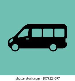 Modern minibus icon