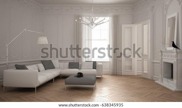 Illustration de stock de Canapé moderne minimaliste dans ...