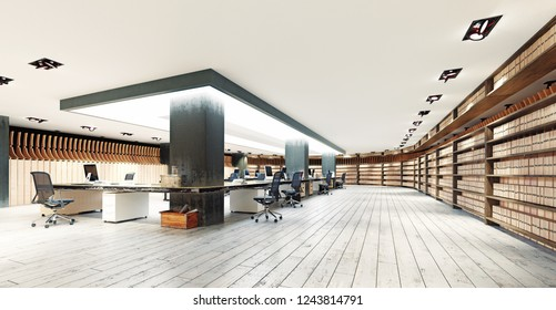 modern  office interior. 3d rendering design concept